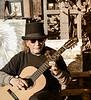 David Playing the Guitar, Canyon Road, Santa Fe, NM