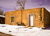 Adobe House in the Snow, xxxxxx Street, Santa Fe, NM