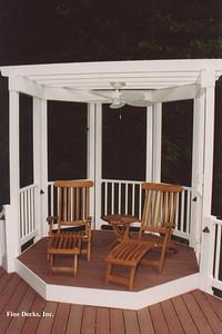 Gazebo deck with arbor