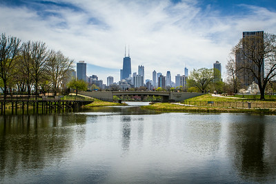 View on Chicago from the Lincoln Park up North.