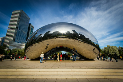 "The ""Cloud Gate"" from Anish Kapoor in Chicago's Millenium Park. ""The Bean"" as called by the locals ;-) Funny structure! :-)"