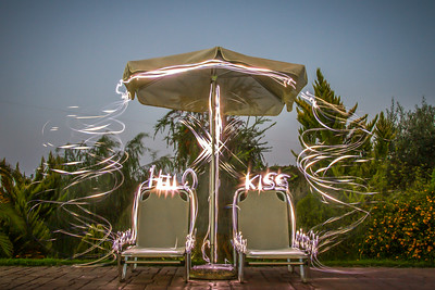 Hello & Kiss! :-) (painting with light)