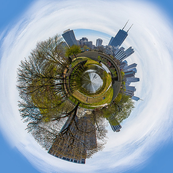 Little planet Chicago Lincoln Park, USA
