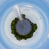 Little planet Hamburg Binnen Alster, Germany