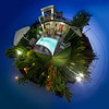 Little planet Villa Georgia by night, Gerani, Crete