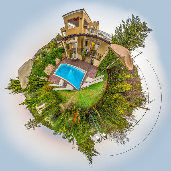 Little planet Villa Georgia by day, Gerani, Crete