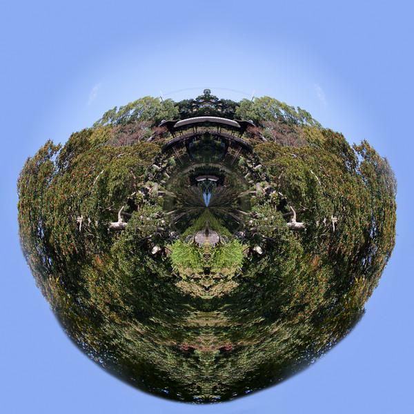 Little planet Kyoto garden, Japan