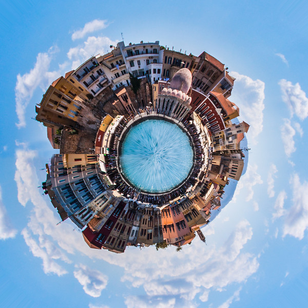 Little planet Chania port, Crete