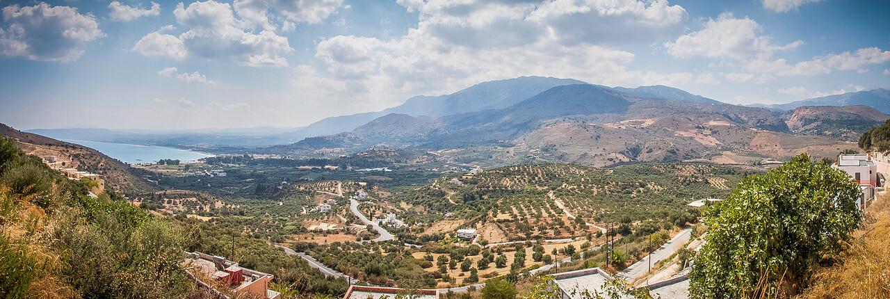View on Georgioupoli from Exopoli, Crete