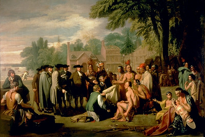 Benjamin West's Painting of William Penn's Treaty with the Delaware Indians