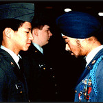 Inspection in Junior ROTC of Marmion Military Academy (Aurora, IL)