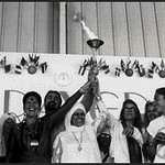 Runners with Peace Torch for 1995 Peace Prayer Day (Espanola, NM)
