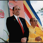 Mayor Paul Brockwater and the Ven. Thich Chon Thanh at Temple Dedication (Garden Grove, CA)