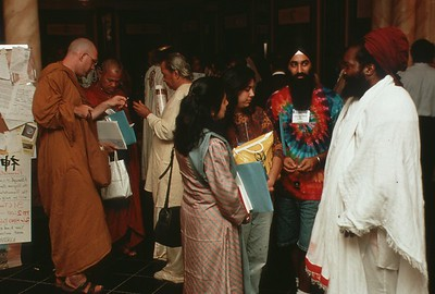 Attendees Mingle at the 1993 Parliament of the World's Religions (Chicago, IL)