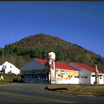 Roadside Markers of Tipi and Indian Chief (Western Massachusetts)