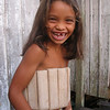 Brazilian girl in a wooden life-jacket. 2003
