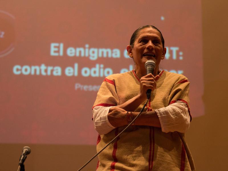 Jesusa Rodríguez, El enigma de la 4T: contra el odio, el humor. Encuentro 2019, CDMX, Mexico. Photo/Foto: Marlène Ramírez-Cancio.