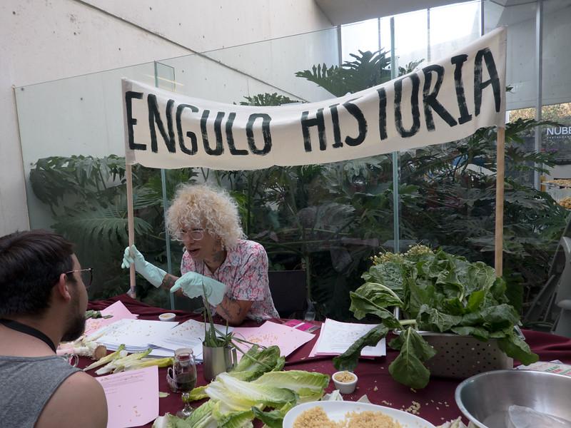 Efe Godoy, Ver, verde, verdade. Engolir história.  Encuentro 2019, CDMX, Mexico. Photo/Foto: Lorie Novak.