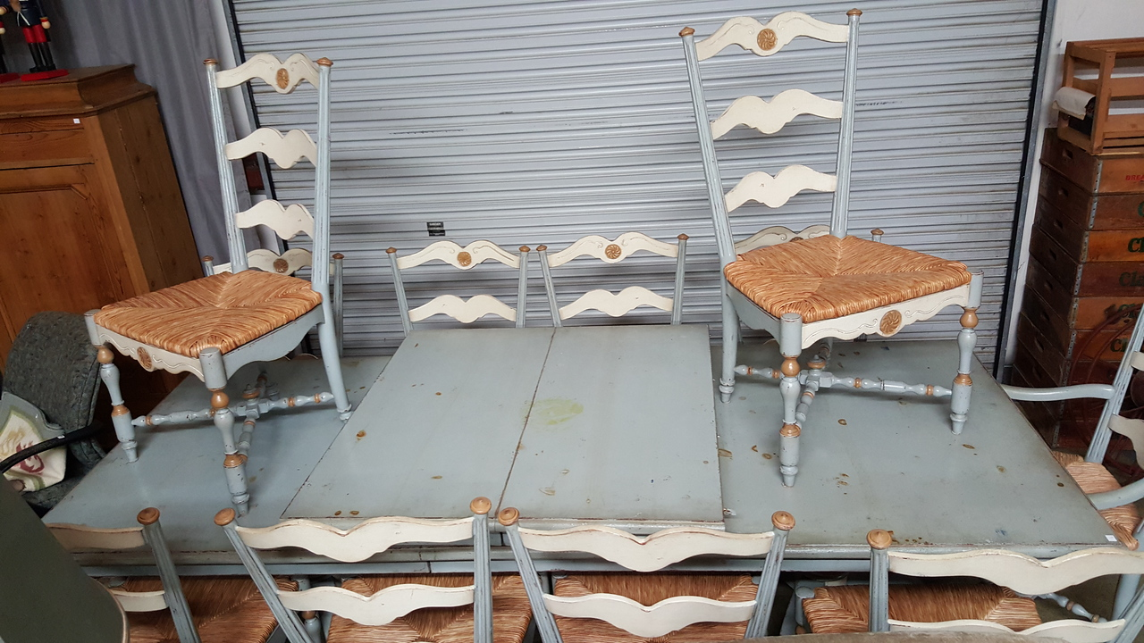 Huge farm tabke and 12 chairs only  $495!!!!
