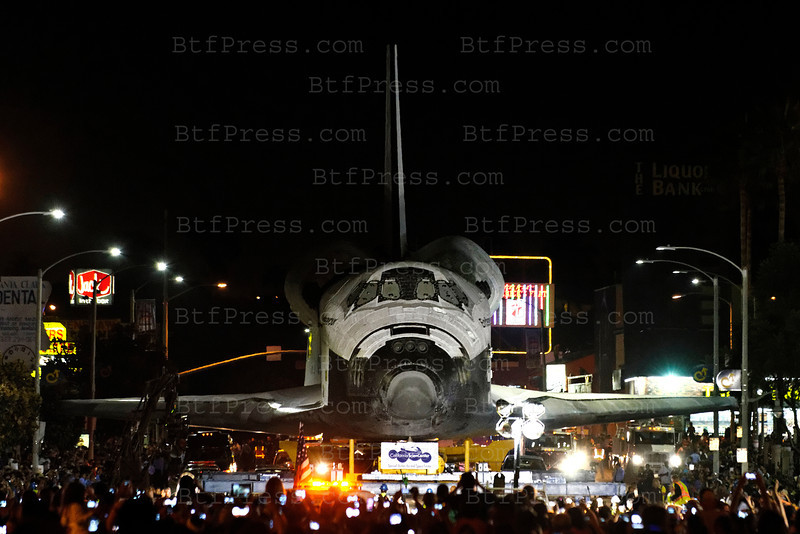 In thousand of Earth orbits, the space shuttle Endeavour traveled more than 123 million miles, the last mission was in Los Angeles from Los Angeles Airport to California Science Center ( 12 miles) by the road,
