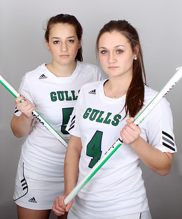 Junior Defense Elizabeth Reda #5, Junior Defense Brenna Shannon #4