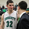 Senior Captain Forward Matt Kneece #32, Endicott College Men's Basketball Head Coach Kevin Bettencourt