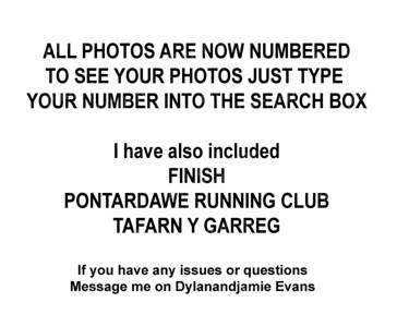 Notice to runners on website