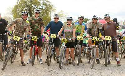 Seven riders participated in the first annual Harvey Roper Memorial Lap. Roper was a Auburn Ca. businessman and endurance sport advocate. Roper passed away unexpectedly late last year. (l-r) Mike Reese, Ross Kochenderfer, Randy Wilson, Bridget Powers, Ted Moore, Ralph Smith and Toby Covich.