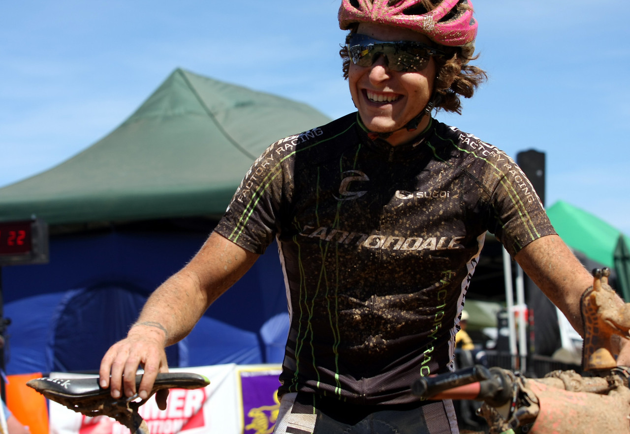 Overall winner Dez Wilder, who rode 21 laps in the 24 hour solo division.