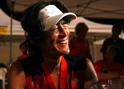 A happy Tsuyoshi Kaburagi at the finish.