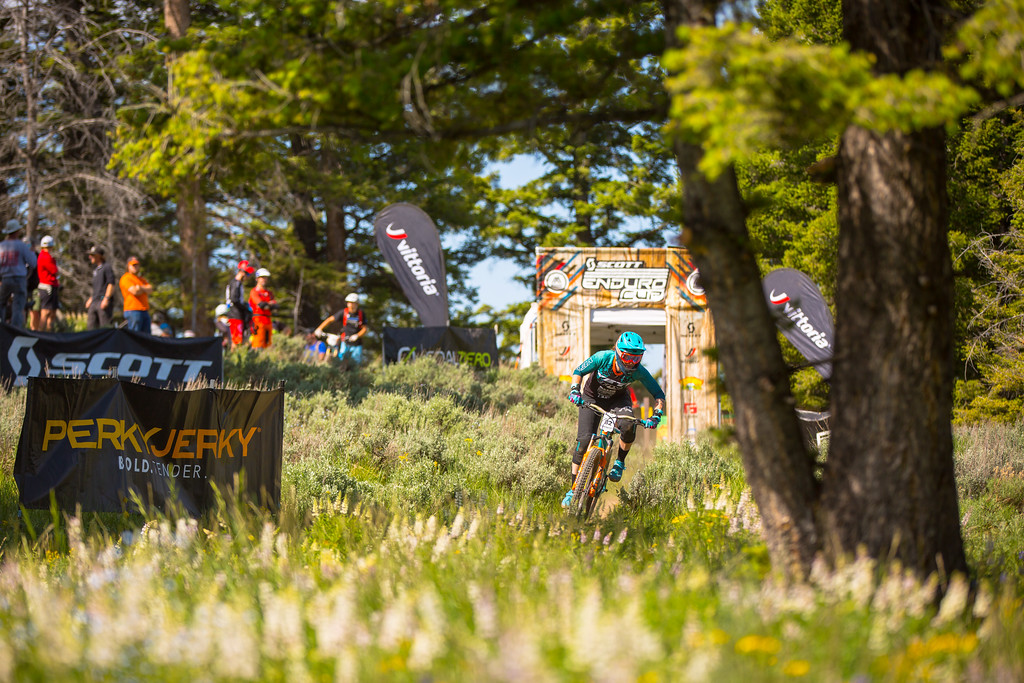 Anne Galyean races the Pro Division in Round  3 of the 2017 SCOTT Enduro Cup presented by Vittoria in Sun Valley, Idaho on July 2nd 2017. Photographer Noah Wetzel, courtesy of Enduro Cup