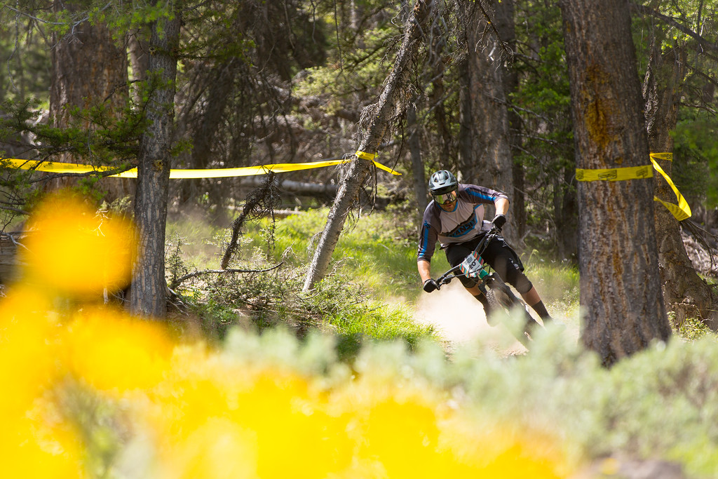 Chris Brule races the Pro Division in Round  3 of the 2017 SCOTT Enduro Cup presented by Vittoria in Sun Valley, Idaho on July 2nd 2017. Photographer Noah Wetzel, courtesy of Enduro Cup