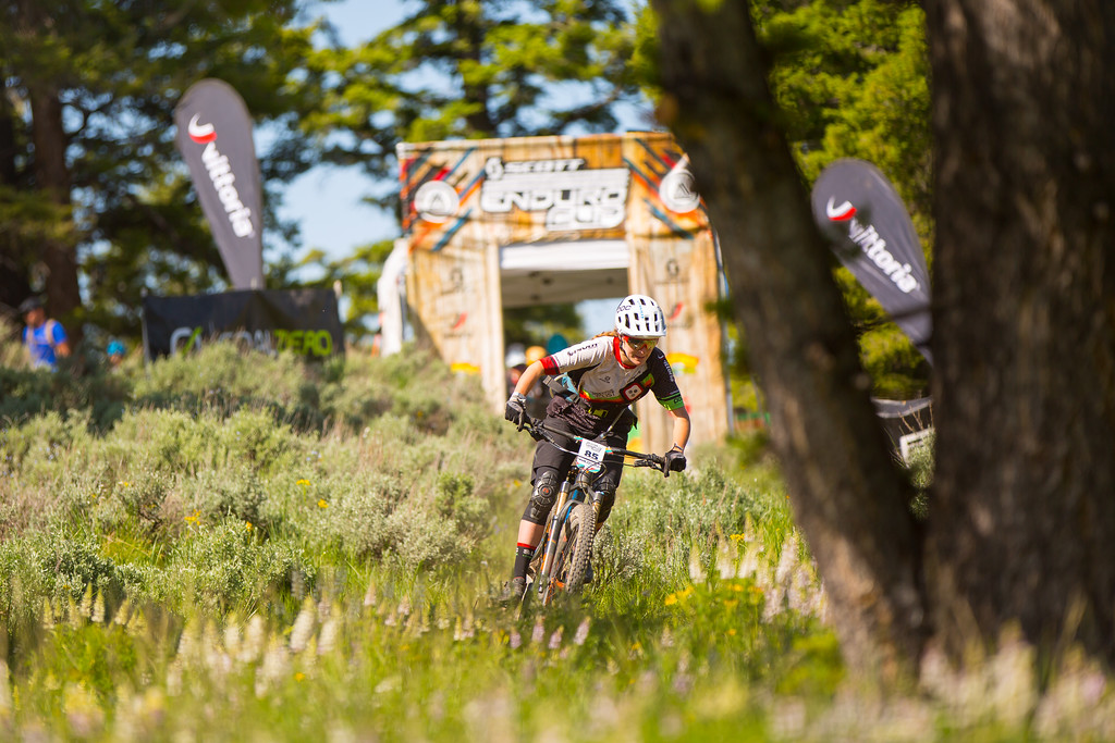 Leah Westermann races the Pro Division in Round  3 of the 2017 SCOTT Enduro Cup presented by Vittoria in Sun Valley, Idaho on July 2nd 2017. Photographer Noah Wetzel, courtesy of Enduro Cup