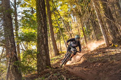 Teddy Jaramillo races stage one in the Pro division in Round 2 of the 2018 SCOTT Enduro Cup presented by Vittoria in Angel Fire, NM on June 9, 2018. Photographer: Noah Wetzel, courtesy of Enduro Cup