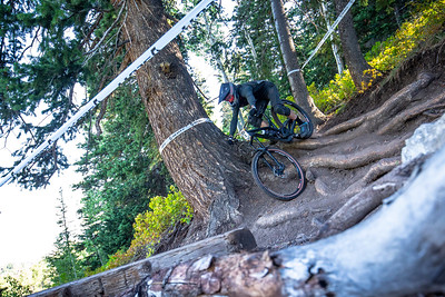 Chris Boice races stage 2 in the Pro/Open Division in Round 5 of the 2018 SCOTT Enduro Cup presented by Vittoria at Deer Valley Resort in Park City, UT on August 25th 2018. (Photographer: Noah Wetzel, Courtesy, Enduro Cup)