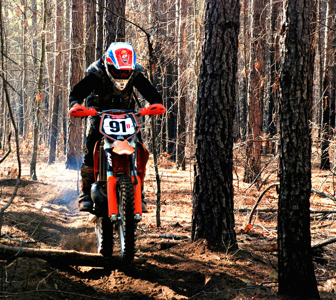 Jared Bolton smoothing his way down the trail