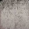 "Inscription on the gravestone: ""..memory of Col. James Easton who departed this life May 26, 1796 aged 68 years"""