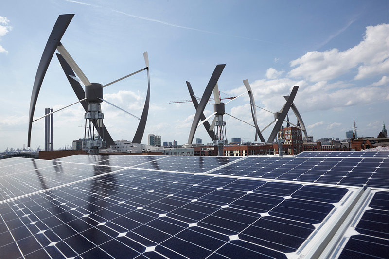 Renewable Energy at Roof of New Greenpeace Germany Office