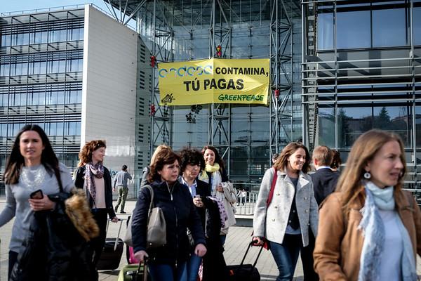Acción Break Free Endesa Madrid