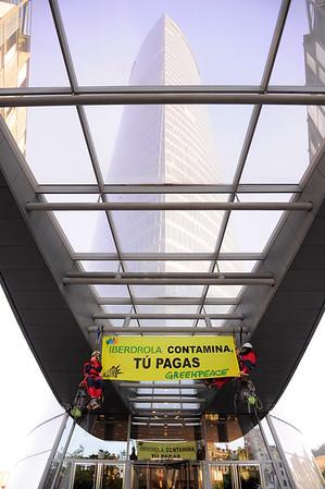 Acción Break Free Iberdrola Bilbao