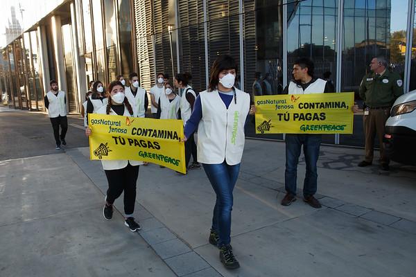 Acción Break Free Gas Natural Fenosa Barcelona