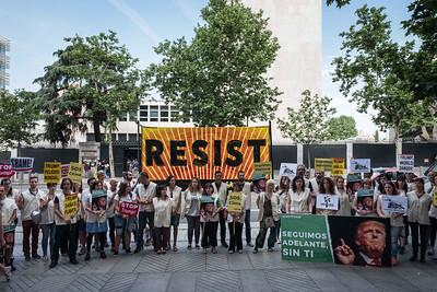 Protesta Trump Embajada EEUU