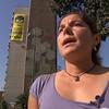 Pancarta Sevilla Declaraciones ESP. Tatiana Nuño, responsable de la campaña de cambio climático de Greenpeace España