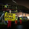 ACCIÓN EN VIVO/ No al carbón desde la central térmica de Meirama (Galicia)