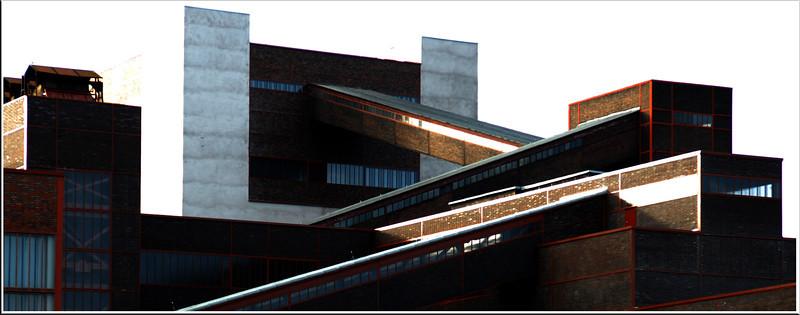 """Zeche Zollverein - Essen 2007 Kohlenwäsche  Steinkeohleförderung von 1847 (ab 1932 im """"Neubau"""") bis 1986 Sitz des Ruhrmuseums"""