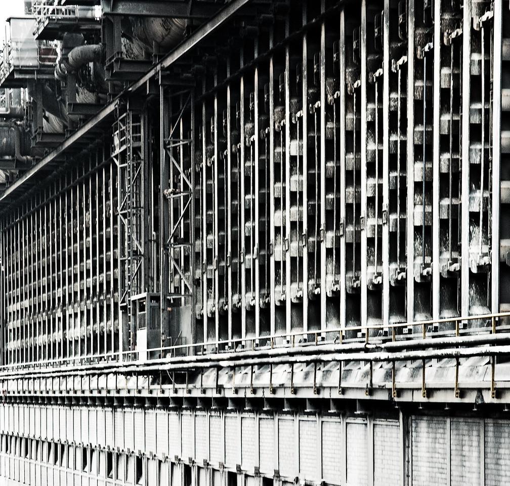 Ofenbatterie der Kokerei Prosper in Bottrop - 2011 Betriebstart 1928 - Koksproduktion ca. 5.500 Tonnen/Tag