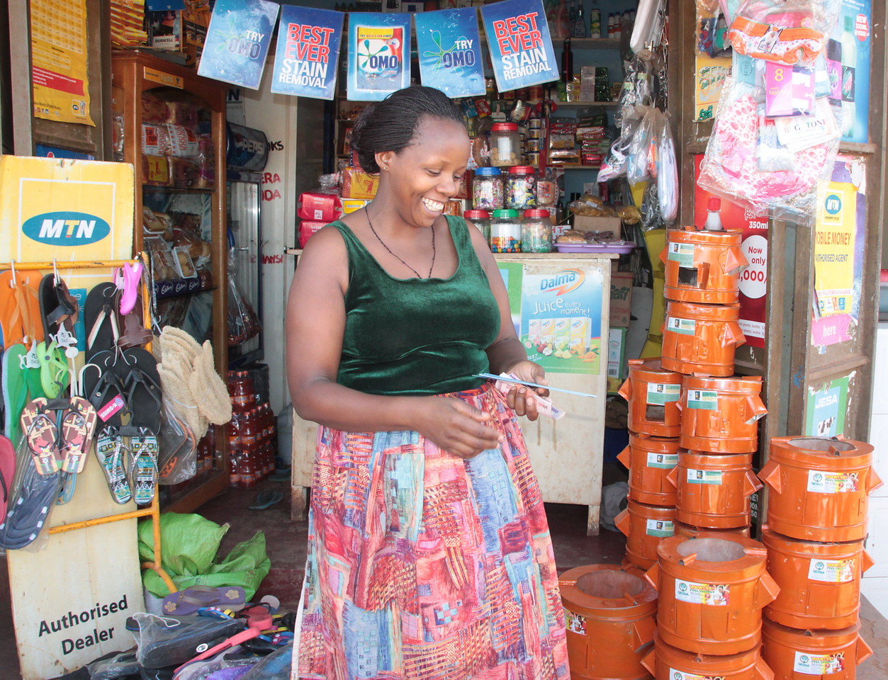 Female Entrepreneurs Upbeat Selling Improved Cookstoves