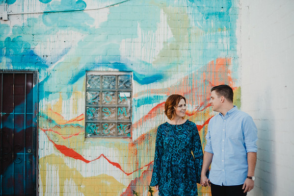 Aaron + Megan | Engaged<br /> Downtown Phoenix, AZ<br /> © Jay and Jess, 2015<br /> all rights reserved