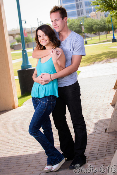 Hunter and Toni's Engagement photography Tempe Town Lake - Studio 616 Photography