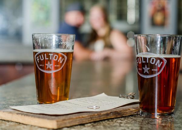 Fulton beer engagement session